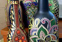 Artesania botellas pintadas