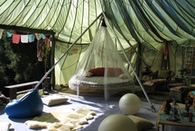 Decorating an Outdoor Tent Home