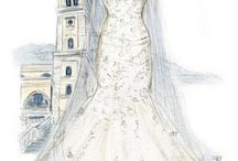 1. Sketch Bridal Wedding Dress / Wedding dress sketch Croqui de vestido de noiva Croquis de vestido de novia Croquis Robe de mariée