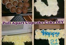 Pull apart J cupcakes