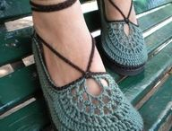 Crochet adult shoes