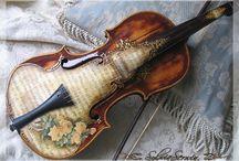 Decupage skrzypce