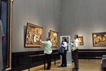 people watching art