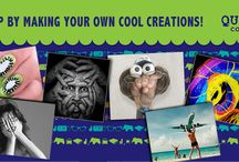 """Presenting the """"Celebrate Your Quirk"""" Contest. / Get in touch with your quirky side. Do something funny, or bizarre with simple things that lie around, at home. Use a coffee mug, a spoon or a coaster, but use your imagination. Then, send us a picture of what you've created. Your quirky art will be judged by our expert design panel and the three best entries will win a Baggit Goodie. Because a quirk should be rewarded with something quirkee :)"""