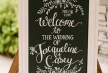 Wedding chalk board