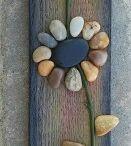 Τέχνη λουλουδια βοτσαλα
