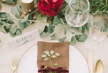 Inspiration for Candace and Ash / marsala and navy weddings