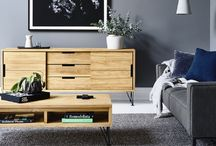 GlobeWest | Nova Collection / A beautiful NEW solid teak range with meticulous joins. Black powder coated eiffel style legs and handle detailing compliment its' crisp clean finish. Includes slim lined and smaller scale case goods perfect for #apartmentliving