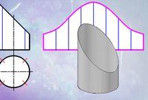 kesit ve açınımlar, geometric patterns