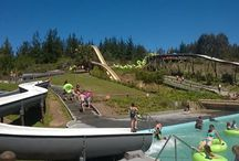 Adventure Land / Where the fun and Adventure never stops! Water slides set in natural vegetation and quad bike trails through the forest