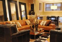 rust coloured lounge