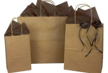 Paper Shopping Bags / These are great paper shopping bags in the basics like natural kraft and white kraft paper shopping bags, or get a little kitchy with color and prints. They are all in stock and you can buy a little or a lot but always pay a little at b2bwraps.com