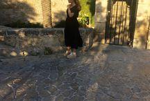 Black dress and Wicker Basket.