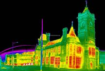 Landmark Buildings / Infrared thermal images of famous buildings in the UK and across the world showing energy loss