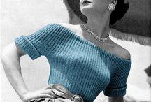 Stricken / Strickmuster Vintage 40s + 50s Jumper