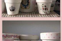 Decoupage pots