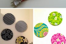 Fabric covered circles- cute!