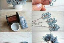 Boncuk çiçek yapımı