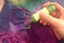 Tutorial on felt journal cover -needle felting cords etc -perth yarns