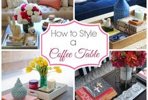 how to style coffee tables & side tables
