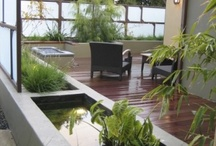 Architectural: Contemporary Landscaping/seating