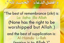 Islamic Duahs, Dhikr & Supplications