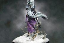 drow / elfe noir illustration figurine miniature