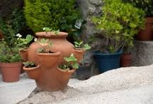 Make planters. / Use of recycled materials to make pots for plants.