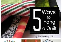 How to hang your quilt - sleve