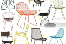 Wire and metal mesh chair