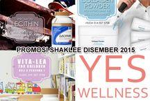 Promosi Shaklee Disember 2015 / Lecithin, Collagen Powder, Vita-Lea for Children dan YES Wellness Pack