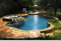 Swimming pool and water garden