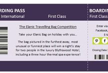 The Travelling Bag Competition / Take your Elanic Bag on holiday with you and send us a photo of it wherever you are! The bag pictured in the funniest, most unusual or furthest away place...will win a night's stay for two in the luxury Blythswood Hotel, including a three hour thermal spa experience. What better way to recover from the holiday blues?! Share your photos on pinterest, e-mail them to info@elanic.co.uk, post them on our wall on Facebook, or tweet us! Closing date 1st Sept 2014.