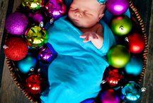 Christmas baby photoshoot