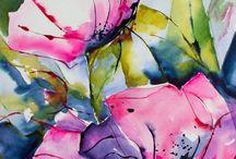 Fiore ad acquerello