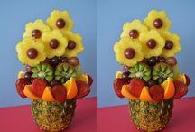Украшения фруктами