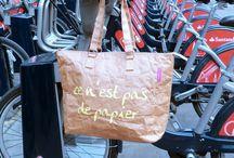 """Avec les bicyclettes / Our """"ce n'est pas de papier"""" buckle bag"""