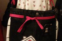 jeans hand made / riflové kreácie na tému kabelka