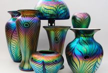 Glass / Studied glass and worked as in off-hand glass blowing. I love the creative flow of hot glass, and love Fumed glass.