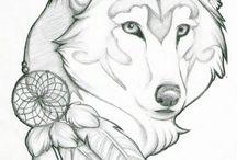 Lupi - disegni