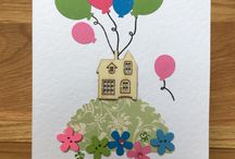 Handmade New Home / Moving House Cards / Unique handmade greeting cards, made individually from my home and sold in local shops.