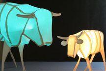 Traudel Stahl Papierkunst Objekte / Zarte Objekte aus handgeschöpftem Papier, teilweise mit LED-Beleuchtung.