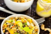 Quinoa Salad Recipes / A collection of quinoa salad recipes I look forward to trying. If you happen to make one of these quinoa salad recipe ideas, please let me know if you like it by giving it a 'thumbs up' or a 'thumbs down'. Thanks.