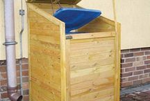 Wooden Bin Screens / Wheelie bins can be unsightly big lumps in the garden and these wooden bin screens make a quick and simple solution to an unsightly problem.