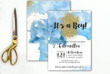 Blue + Gold Baby Boy Shower