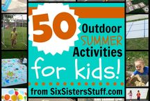 """Outdoor Activities and Games for Kids / Outdoor activities makes summer fun for kids! This board if for sharing the many ways to """"think outside the house"""" with fun ideas and games for playing outside with kids!"""