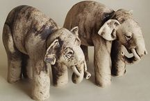 Ceramic ANIMALS /  a collection of animals rendered in clay, interspersed with other inspirational references / by Annie O'Fallon