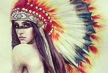 Native Indian tattoos