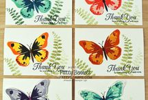 Stampin' up! - Watercolour wings / Stampin' up stamp set and card design