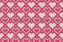 Ornamental Heart Pattern For Knitting neulekuvio lapaset